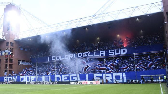 sampdoria tifosi gradinata sud derby
