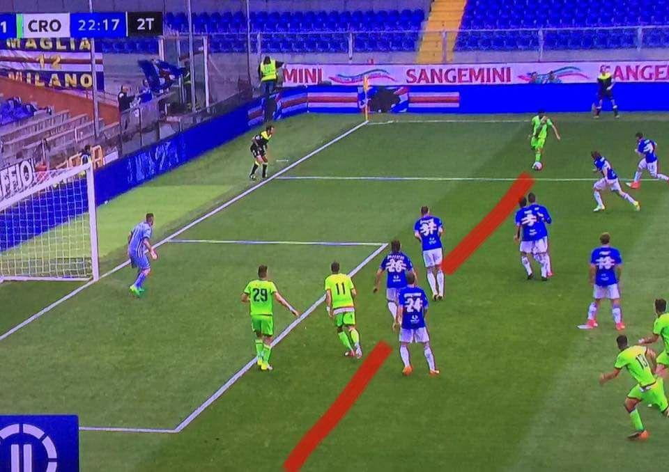 sampdoria-crotone gol