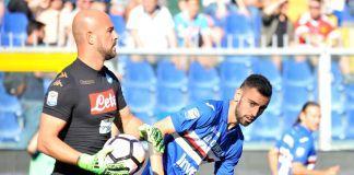 Reina Fernandes Napoli Sampdoria