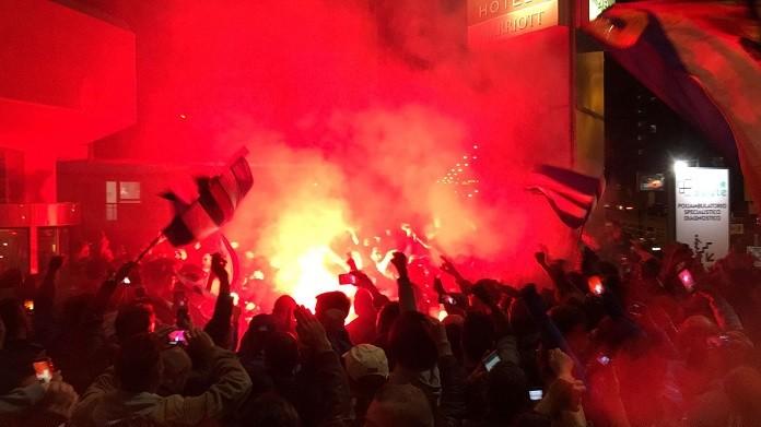raduno tifosi derby sampdoria ac hotel