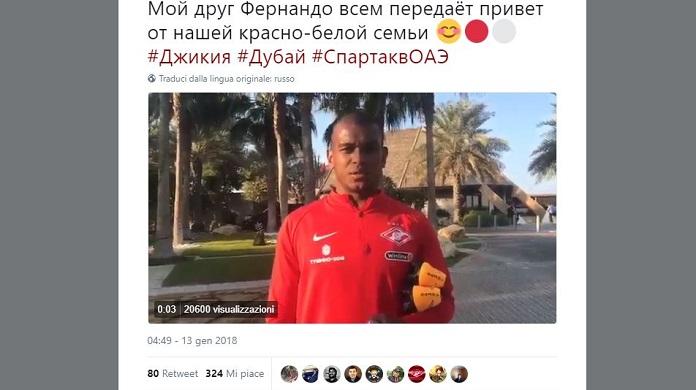 Bufera social sullo Spartak Mosca