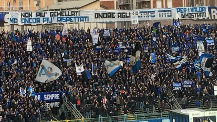 atalanta-sampdoria striscione ultras