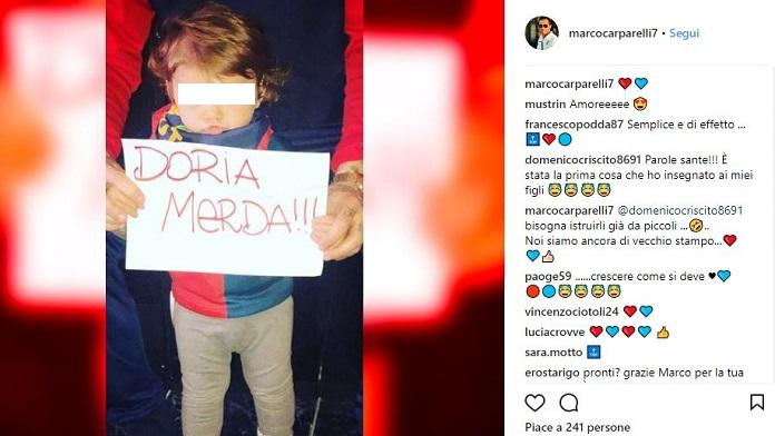criscito carparelli sfottò derby instagram