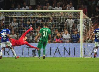 sampdoria-fiorentina gol distanza