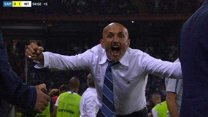spalletti esultanza gol sampdoria-inter