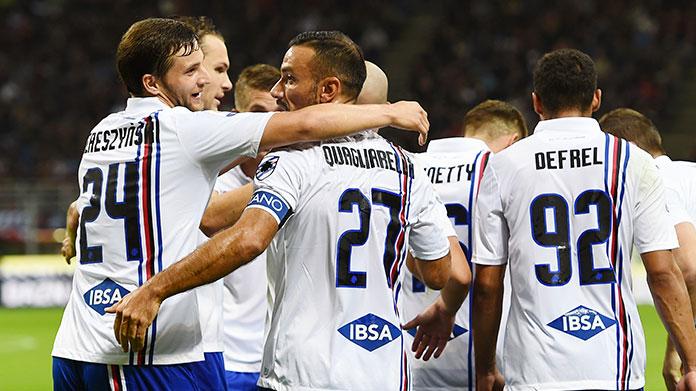 esultanza gol quagliarella sampdoria