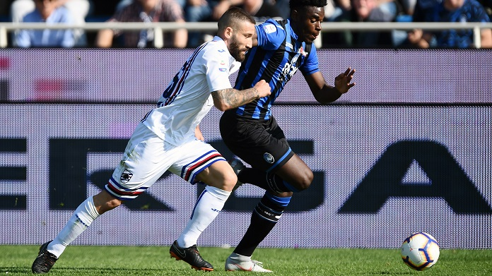 atalanta sampdoria streaming