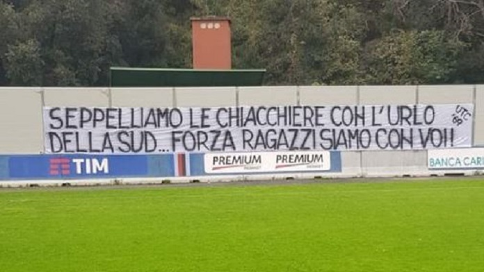 striscione derby ultras bogliasco sampdoria