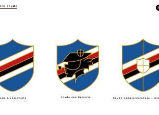 sampdoria rebrand logo stemma