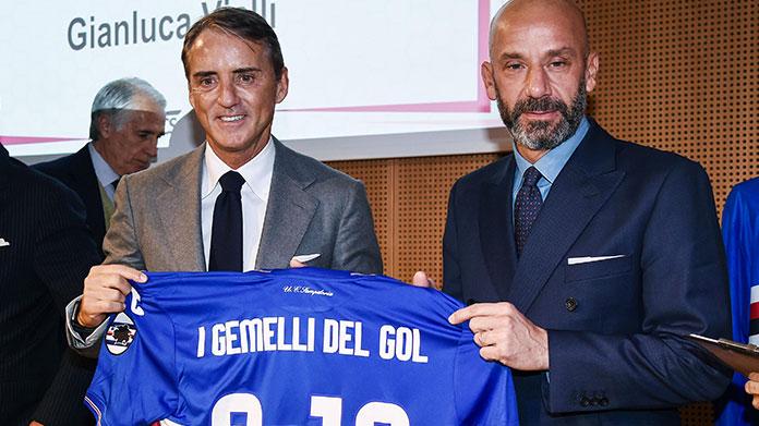 Sampdoria Mancini cannonieri Vialli