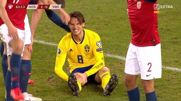 Infortunio Ekdal, ferita al ginocchio shock in Nazionale! Salterà Samp-Milan