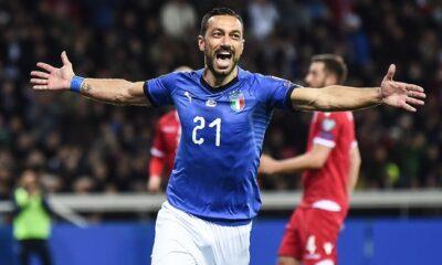 quagliarella esultanza gol italia