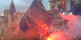 tifosi sampdoria raduno ac hotel derby