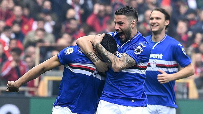 murru defrel gol derby sampdoria-genoa esultanza