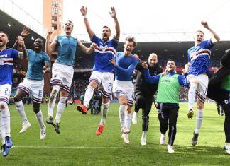 sampdoria esultanza gruppo derby