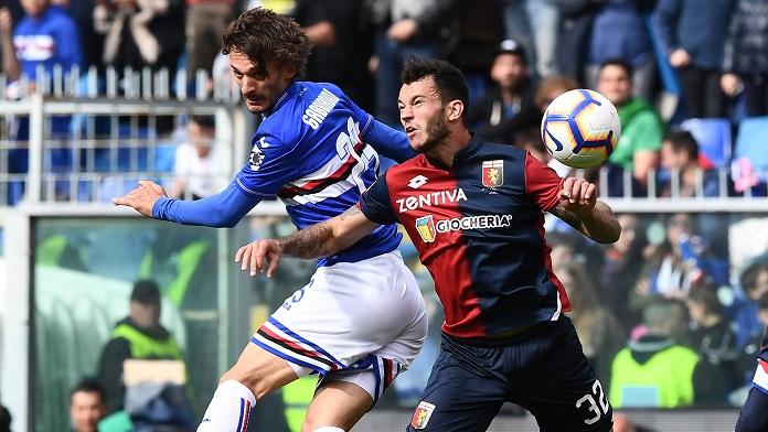 gabbiadini sampdoria streaming derby Genoa