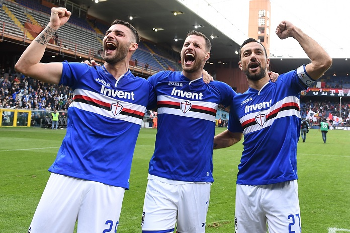 murru maglia quagliarella live esultanza derby sampdoria genoa