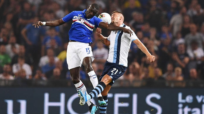 sampdoria lazio streaming Sky immobile colley