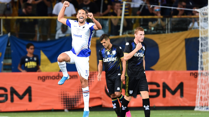 Sampdoria Parma live formazioni Ramirez highlights