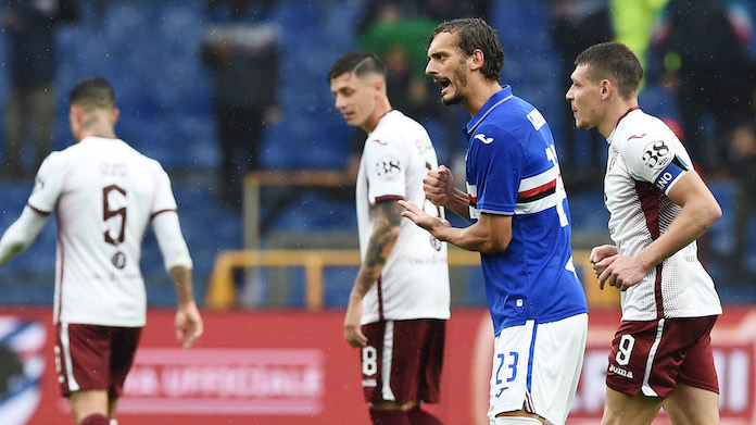 Ranieri marcatori Sampdoria highlights Gabbiadini