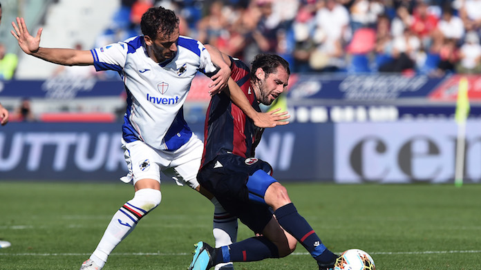 streaming Bologna Sampdoria