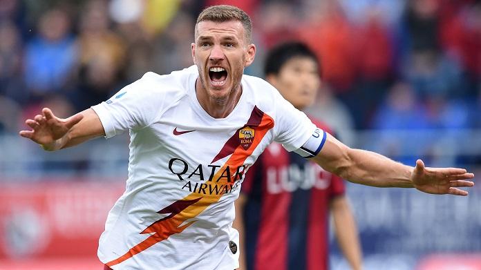 dzeko Sampdoria-Roma convocati
