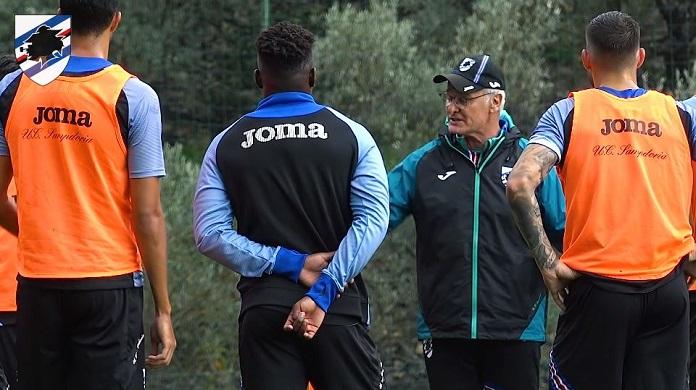 ranieri allenamenti coronavirus Sampdoria