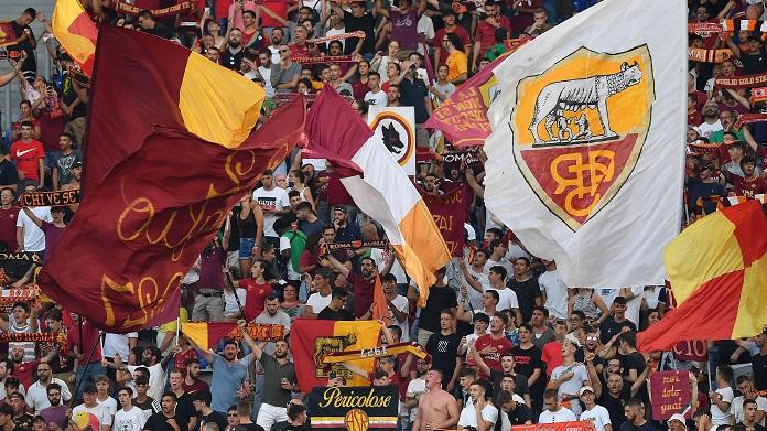 roma settore ospiti tifosi