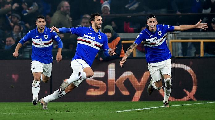 gabbiadini gol derby sampdoria brescia live