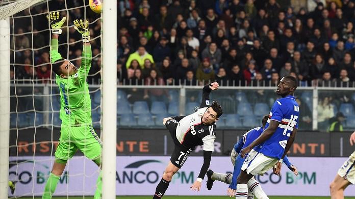 ronaldo sampdoria-juventus gol