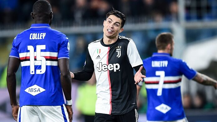 ronaldo colley sampdoria juventus