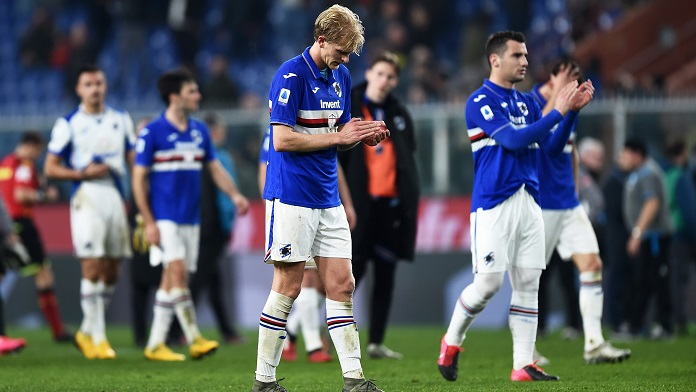 delusione sampdoria infortunati