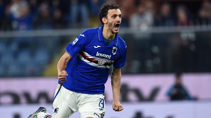 Sampdoria Gabbiadini Napoli gol