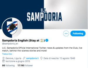 Sampdoria Twitter