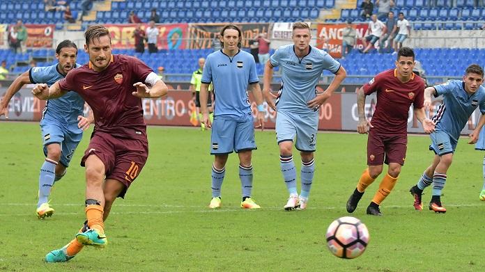 totti roma sampdoria gol