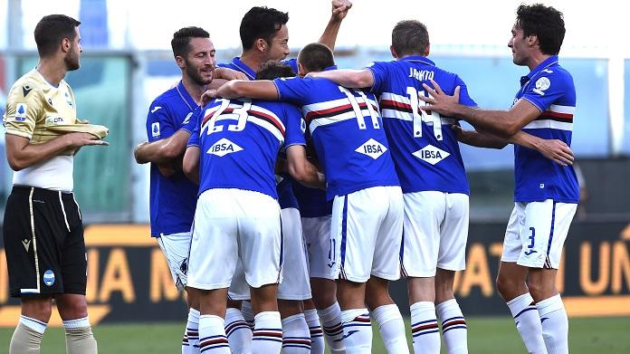 esultanza gol linetty sampdoria spal